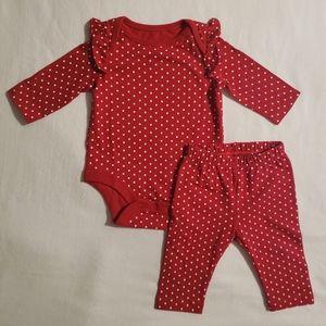 Baby Gap Polka Dot Onsie & Leggings